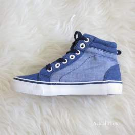 SALE! Old Navy Color Blocked Canvas High-Tops Shoes - Kids