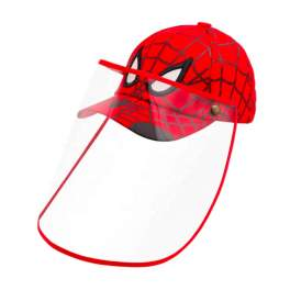 Kid's Character Baseball Cap with Removable Face Shield - Spiderman