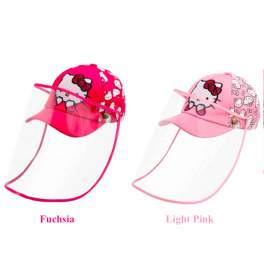 Kid's Character Baseball Cap with Removable Face Shield - Hello Kitty