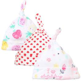 Lion Bear 3-pack Baby Beanie Hat with Knot - Girl I Love Daddy