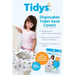 Tidys Disposable Toilet Seat Covers 10 count