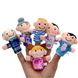 6pc Family Finger Puppets