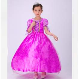 Princess Rapunzel Tangled Costume Dress