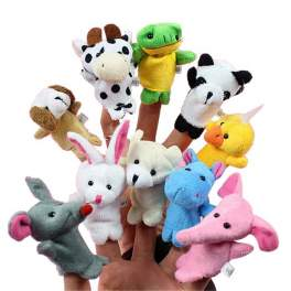 10-piece Animal Finger Puppet